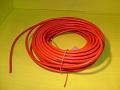 vysokonapěťový kabel červený s měděným jádrem- 1 metr