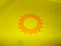 Filc víčka nádrže žlutý