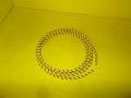 Zapalovací kabel opletený žlutý 10 cm
